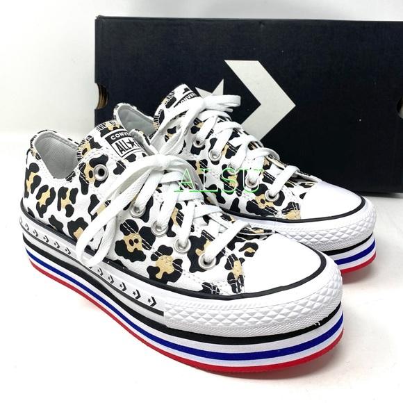 Converse Shoes | Converse Ctas Platform Layer Low Canvas Animal W ...